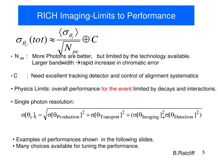 RICH Imaging-Limits to Performance