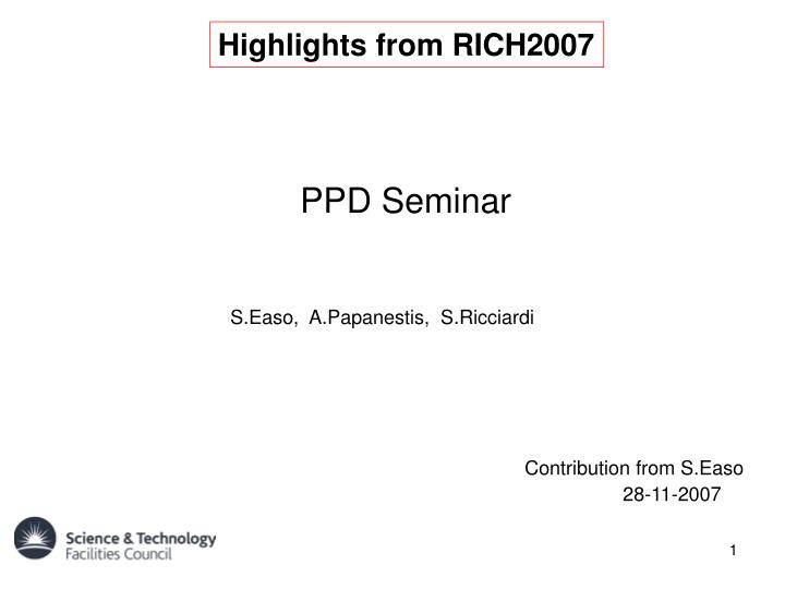 Highlights from RICH2007