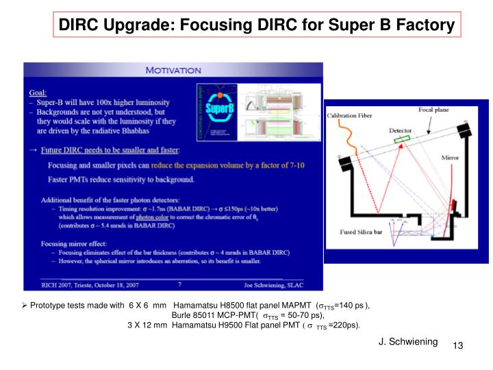 DIRC Upgrade: Focusing DIRC for Super B Factory