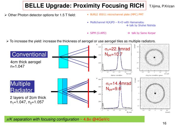 BELLE Upgrade: Proximity Focusing RICH