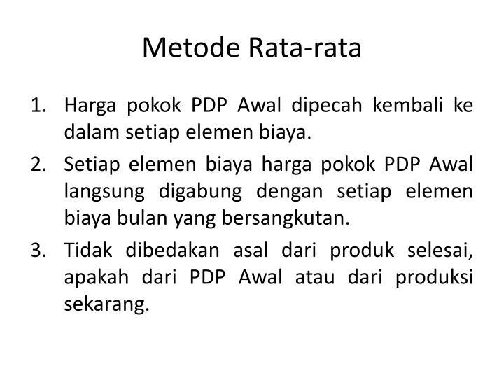 Metode Rata-rata