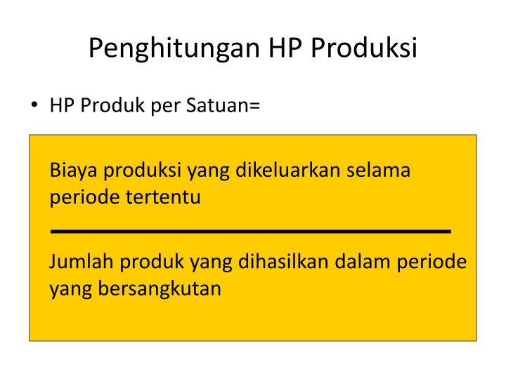 Penghitungan HP Produksi