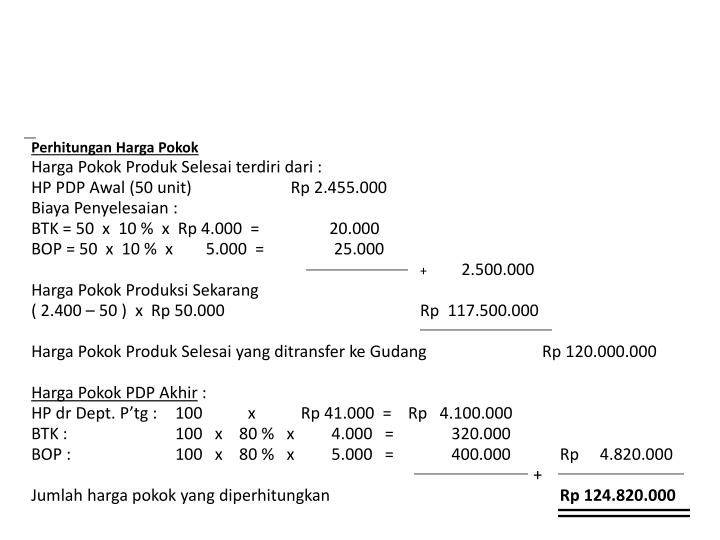 Perhitungan Harga Pokok