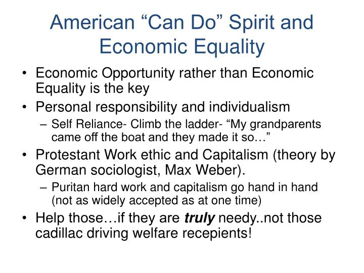 "American ""Can Do"" Spirit and Economic Equality"