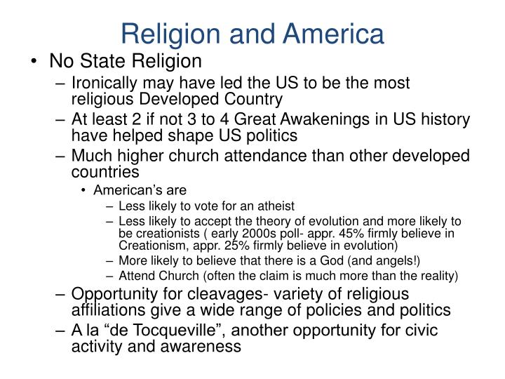 Religion and America