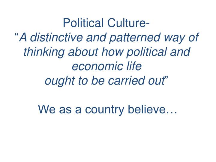 Political Culture-