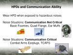 hpds and communication ability