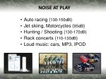 noise at play