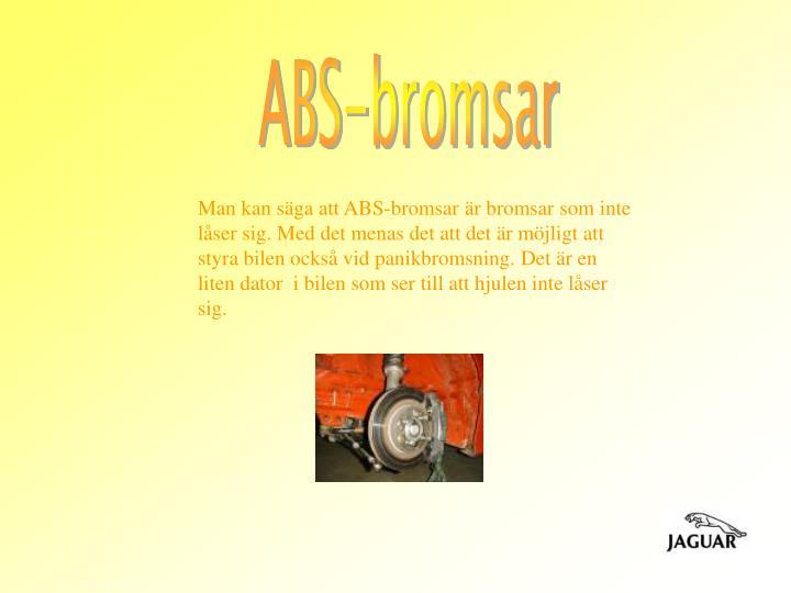 ABS-bromsar