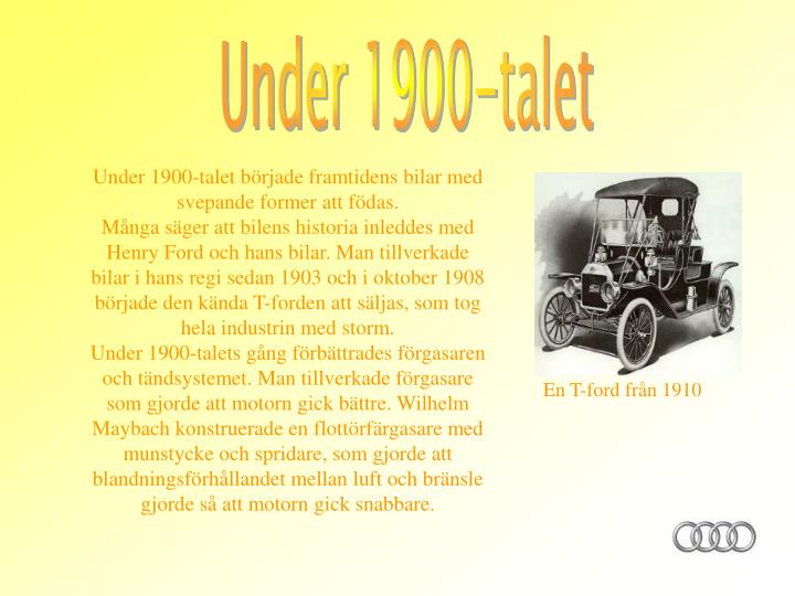 Under 1900-talet