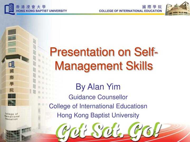 Presentation on Self-Management Skills