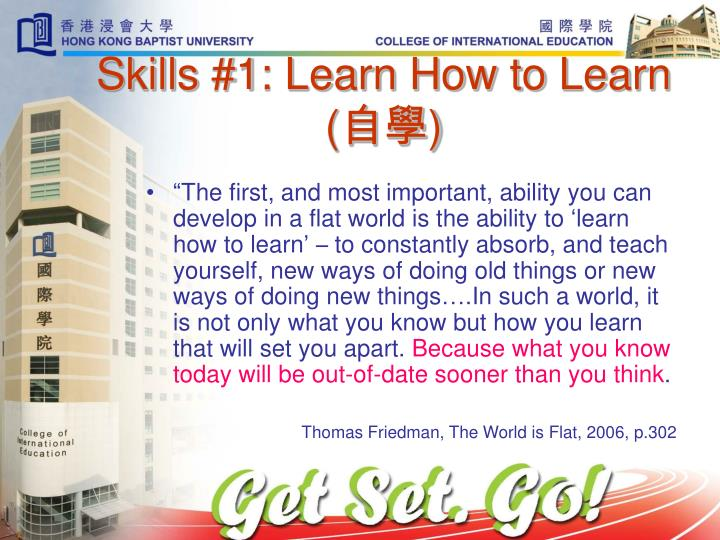 Skills #1: Learn How to Learn (