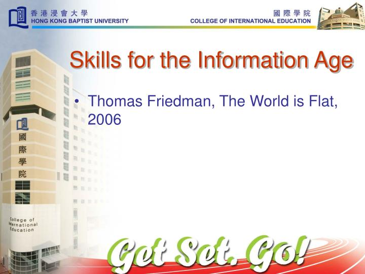 Skills for the Information Age