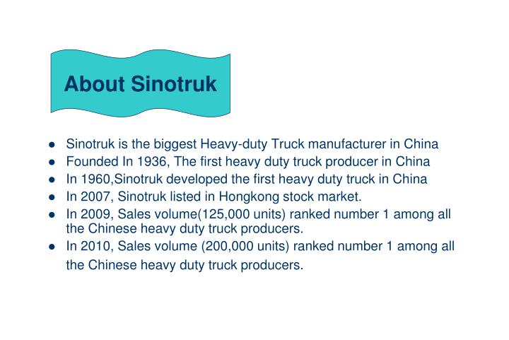 About Sinotruk