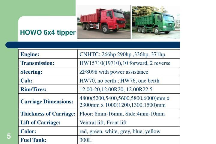 HOWO 6x4 tipper