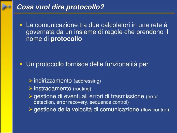 Cosa vuol dire protocollo?