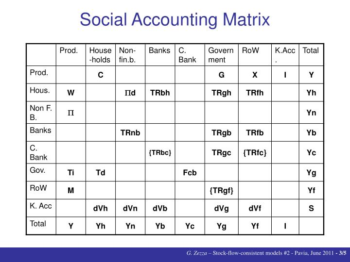 Social accounting matrix