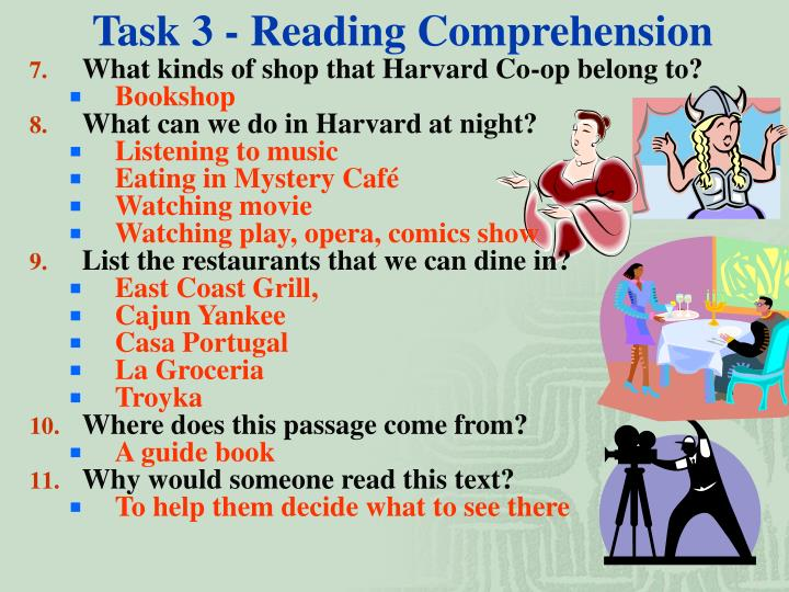 Task 3 - Reading Comprehension