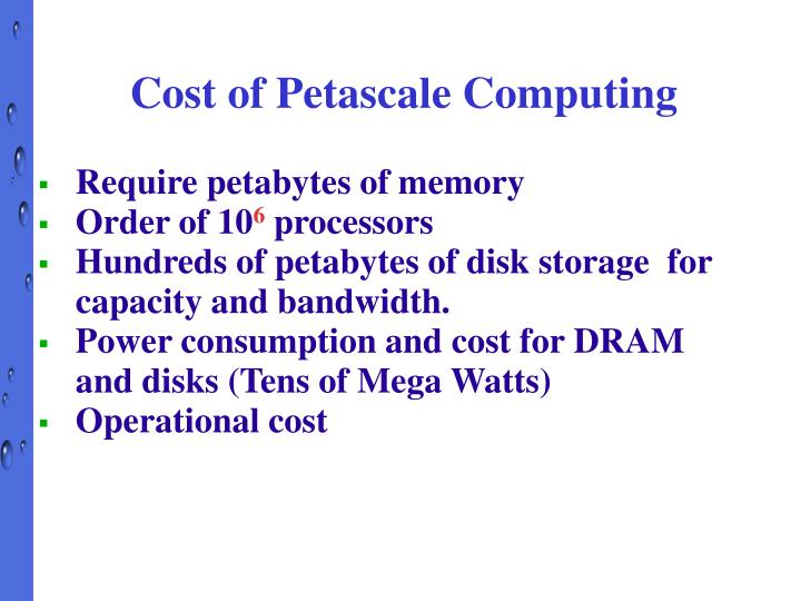 Cost of Petascale Computing