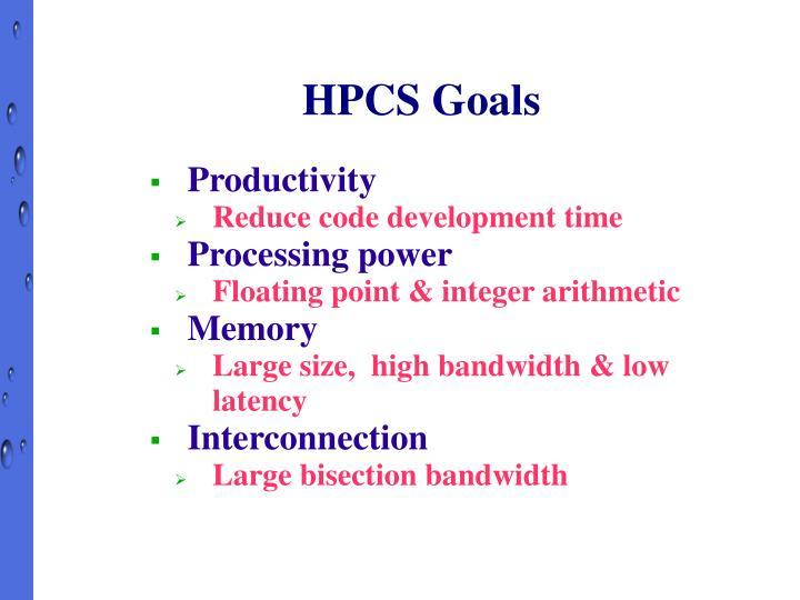 HPCS Goals