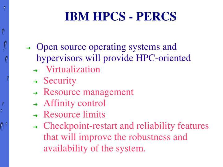 IBM HPCS - PERCS