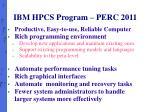 ibm hpcs program perc 2011