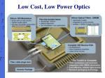 low cost low power optics