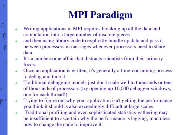 MPI Paradigm