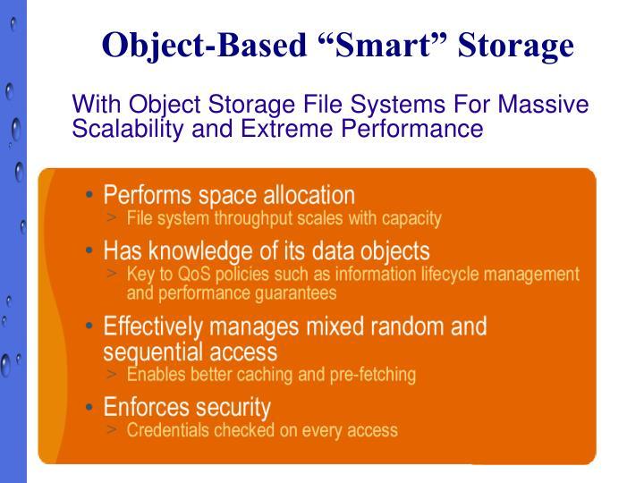 "Object-Based ""Smart"" Storage"