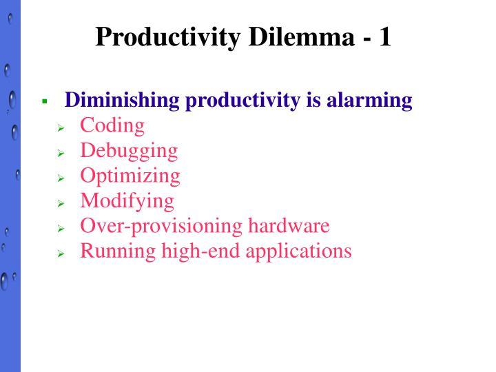 Productivity Dilemma - 1