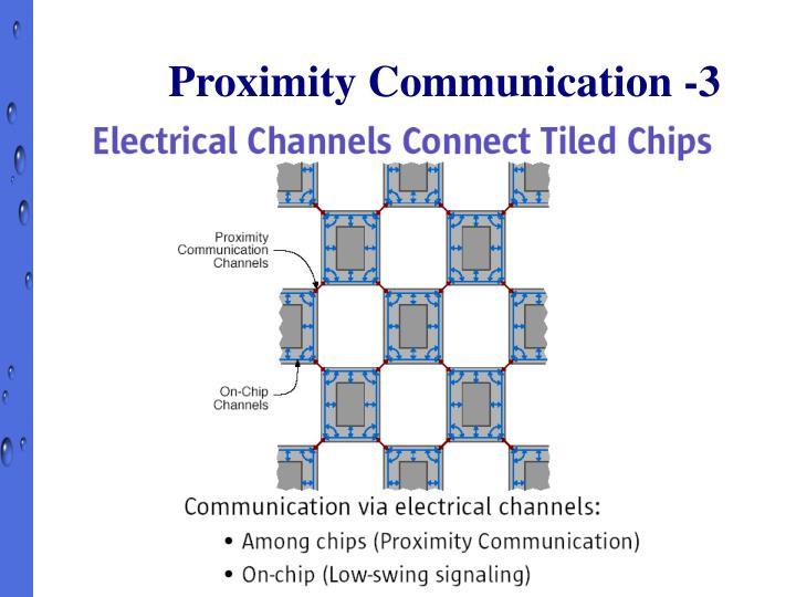 Proximity Communication -3