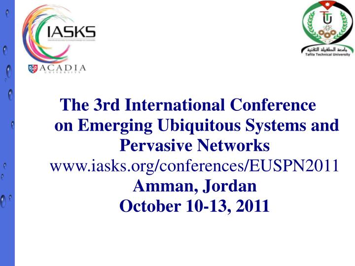 The 3rd International Conference