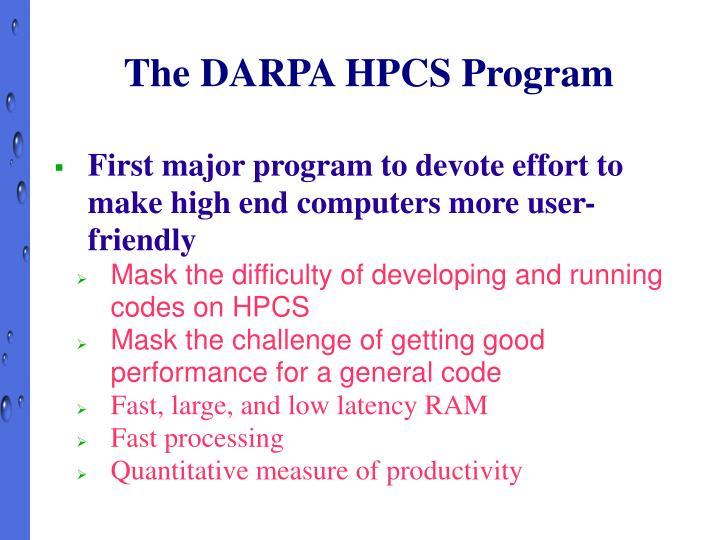 The DARPA HPCS Program