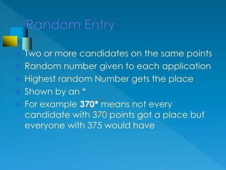 Random Entry