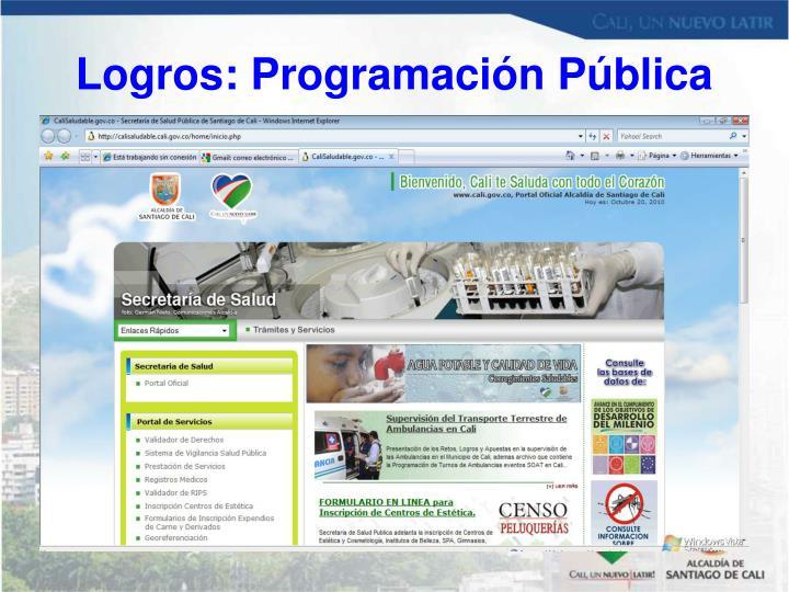 Logros: Programación Pública