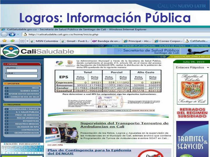 Logros: Información Pública