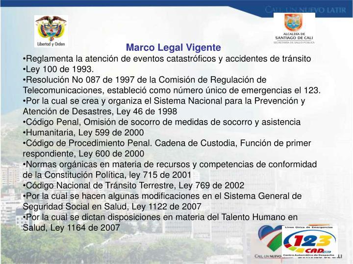Marco Legal Vigente
