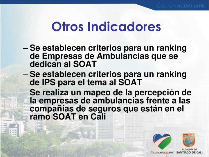 Se establecen criterios para un ranking de Empresas de Ambulancias que se dedican al SOAT
