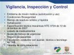vigilancia inspecci n y control