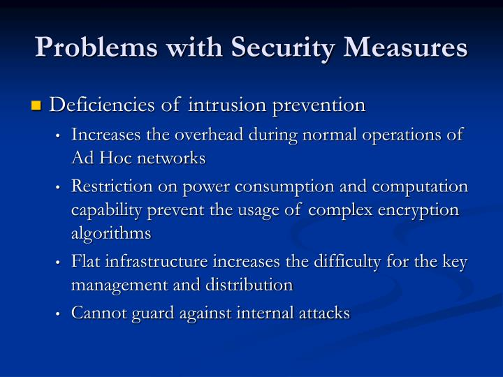 Problems with Security Measures
