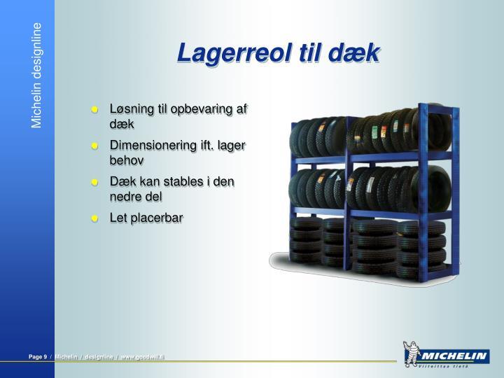 Lagerreol til dæk