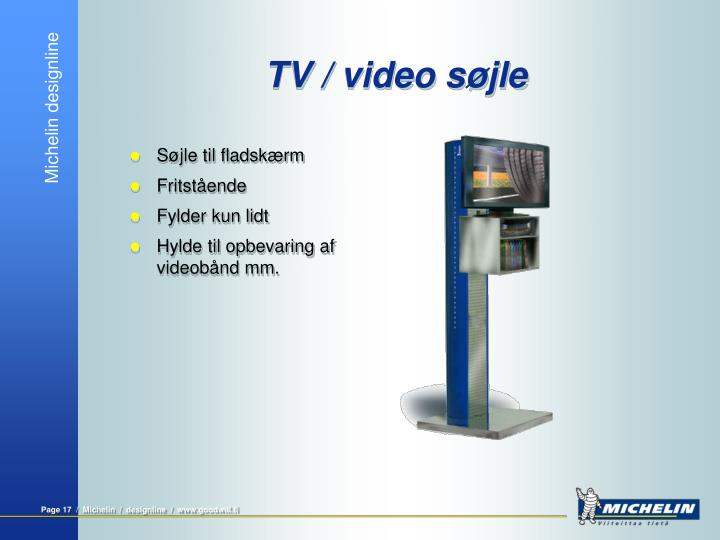 TV / video søjle