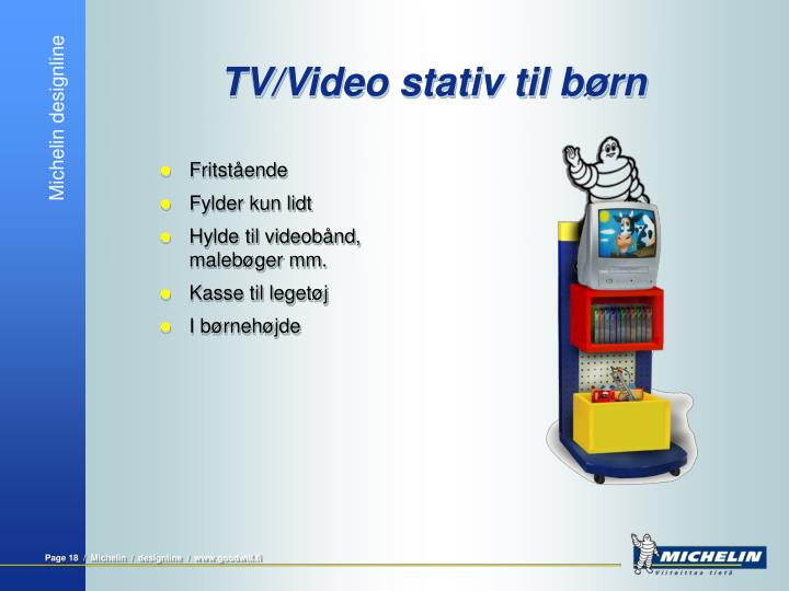 TV/Video stativ til børn