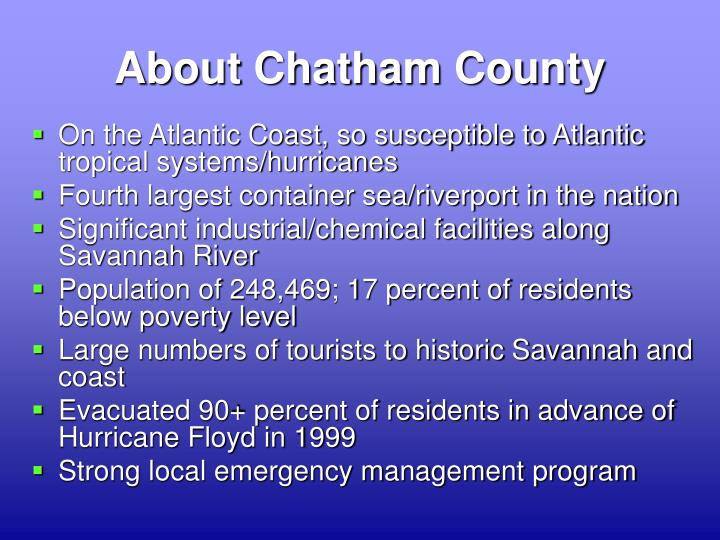 About Chatham County