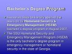 bachelor s degree program