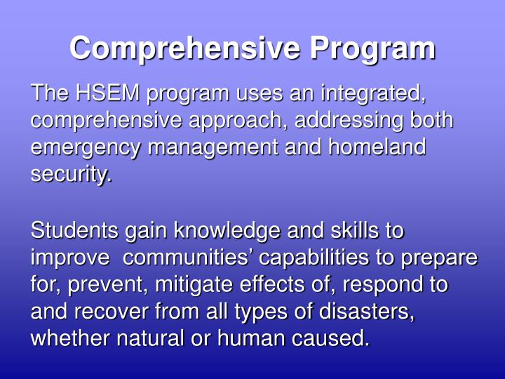 Comprehensive Program