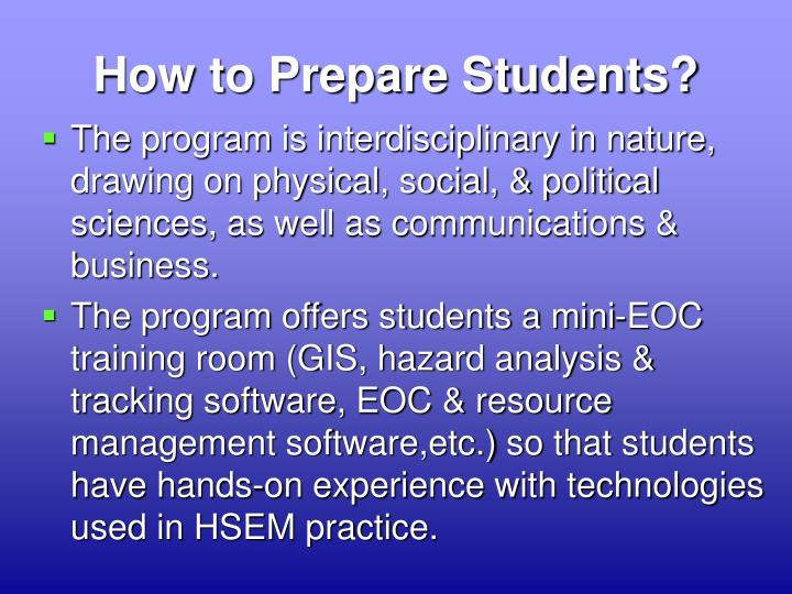 How to Prepare Students?