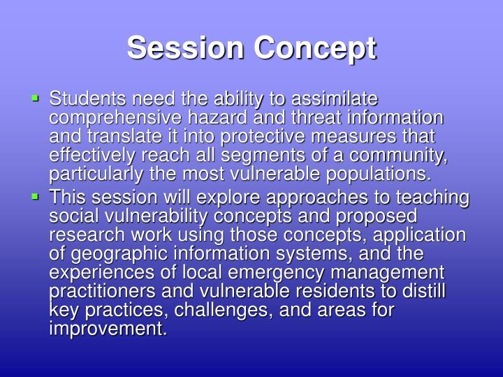 Session Concept