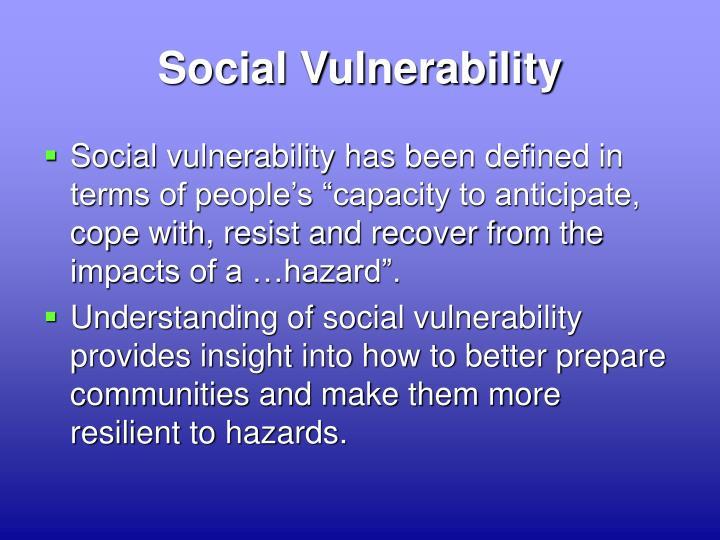 Social Vulnerability