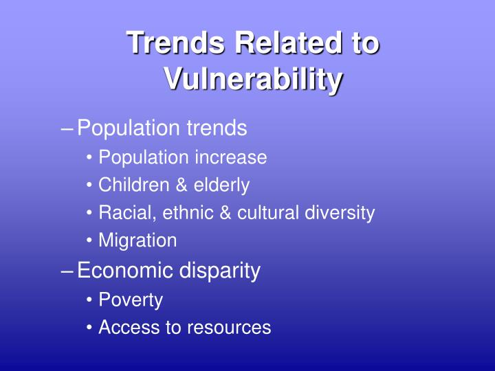 Trends Related to Vulnerability